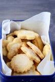 Cornmeal sugared cookies Stock Photos