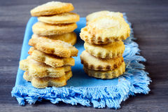 Cornmeal sugared cookies Royalty Free Stock Photo