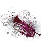 Corno decorato   Fotografia Stock Libera da Diritti