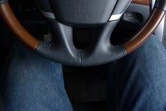 Corno e piedini di automobile Immagini Stock Libere da Diritti