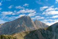 Corno Gran Sasso Grande panorama L'Aquila Włochy Zdjęcia Royalty Free