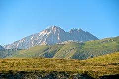 Corno Grande and Corno Piccolo peak, Abruzzo, Ital Stock Image