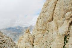 Corno grande, Gran Sasso, alta traccia, L'Aquila, Italia Immagine Stock