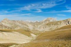 Corno Grande, Gran Sasso, wysoki ślad, l'Aquila, Włochy Obrazy Royalty Free