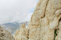 Corno grandioso, Gran Sasso, fuga alta, L'Aquila, Itália Imagem de Stock