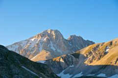 Corno pico de flautim grandioso e de Corno, Abruzzo, Itália Fotos de Stock Royalty Free