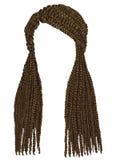 Cornrows longos africanos na moda do cabelo Estilo da beleza da forma Imagem de Stock Royalty Free