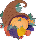 Cornucopia. A cornucopia filled with fruit Royalty Free Stock Photos