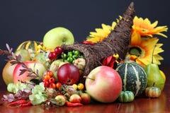 Cornucopia. Autumn cornucopia - symbol of food and abundance