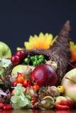 Cornucopia. Autumn cornucopia - symbol of food and abundance Stock Photo