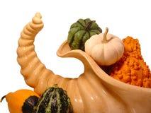 Cornucopia 2. A cornucopia filled with gourds Royalty Free Stock Photos