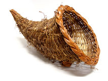 Cornucopia basket Royalty Free Stock Photos