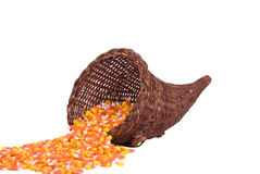 Cornucopia with Candy Corn Royalty Free Stock Image