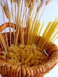 Cornucopia da cesta do trigo Fotografia de Stock