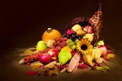 Cornucopia del otoño Imagen de archivo libre de regalías