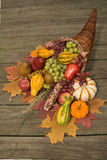 Cornucopia with fall harvest Stock Image