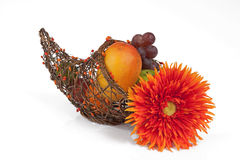 Cornucopia with Flower Stock Images