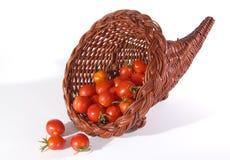 Cornucopia Of Fresh Cherry Tomatoes Stock Image