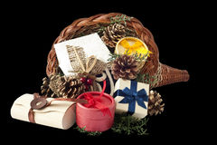 Cornucopia with gifts 1 Stock Photography