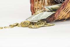 Cornucopia of Gold and Cash Royalty Free Stock Images