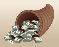 cornucopia pieniądze Obraz Stock