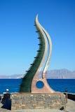Cornucopia statua, Agios Nikolaos Fotografia Stock