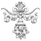 Cornucopia - um símbolo da abundância e da riqueza Fotos de Stock Royalty Free