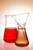 Cornues chimiques images stock