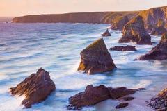 Cornwall海岸  库存照片