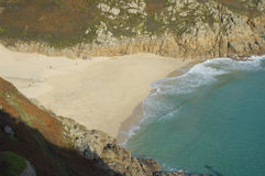 Cornwall. Porthcurno beach, Cornwall, United Kingdom royalty free stock photography