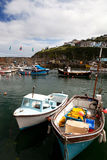 Cornwall boats harbor Mousehole fishing villlage Stock Photography