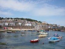 Cornwall byhamn Royaltyfri Fotografi