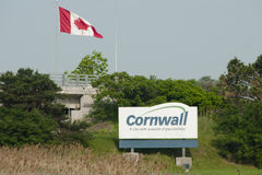 Cornwall City Sign - Canada. Cornwall City Sign in Canada royalty free stock images