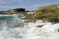 Cornwall coast. North Cornwall coastline near Tintagel Royalty Free Stock Photography