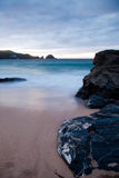 Cornwall Coast. Looking out from the beach at mother ivys bay Cornwall Royalty Free Stock Photos