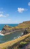 Cornwall coast Boscastle Cornwall England UK beautiful autumn day Stock Images