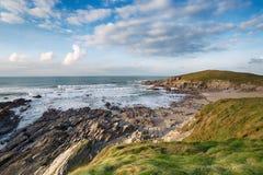 Cornwall Coast at Newquay Royalty Free Stock Photography