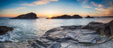 Cornwall Coast Panorama Royalty Free Stock Image