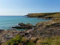 Cornwall coast at Polzeath England UK Stock Photos