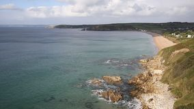 Cornwall coast Praa Sands beach South West England Uk Royalty Free Stock Photo