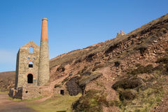 Cornwall coast and tin mineS England UK Royalty Free Stock Image