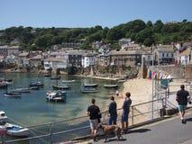 Cornwall-Dorfhafen Lizenzfreie Stockfotos