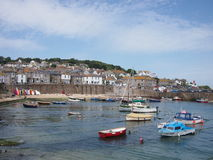 Cornwall-Dorfhafen Lizenzfreie Stockfotografie