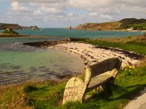 Cornwall England beach Isles of Scilly Tresco island Stock Photography