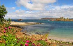 Cornwall England strandöar av ön för Scilly St Agnes Arkivfoton