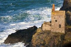 Cornwall falezy kopalnia Botallack Zdjęcie Stock