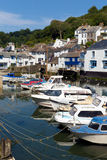 Cornwall fishing village of Polperro England UK Royalty Free Stock Images