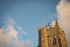 Cornwall-Flagge auf Kirche Lizenzfreies Stockbild