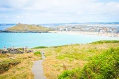 Cornwall-Küste in England lizenzfreies stockfoto