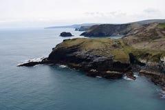Cornwall Kust stock afbeelding